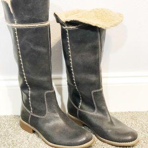 Timberland gray tall Shoreham Sherpa boot lined
